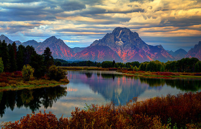 Ox Bow Bend, near the Grand Tetons