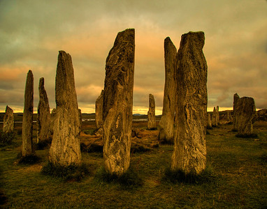 Callanish stones on the Isle of Harris, Scotland
