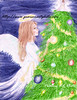 An angel puts an ordiment on a Chirstmas tree