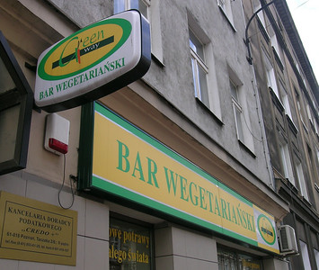 A vegan lunch (a nod to Esther and Emerie) at Poznan's only vegetarian restaurant