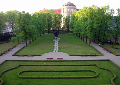 View of a courtyard in Poznan's Imperial Castle