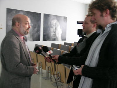 Interviews with local media