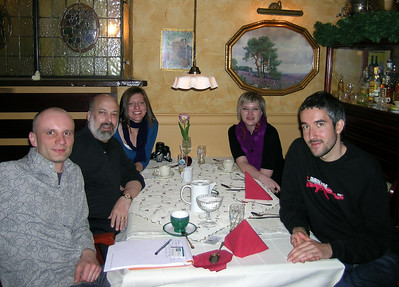 "My ""tour guides"" and colleagues, bringing description to Poland - Szymon, Magda, Anya and Filip"