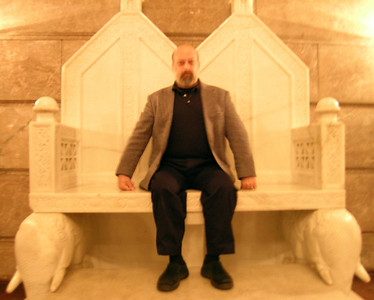 Holding court on the throne in Poznan's Imperial Castle