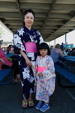 Ai Hashimoto & Daughter Kate Chu (Kindergarden) with their traditional Japanese costume.