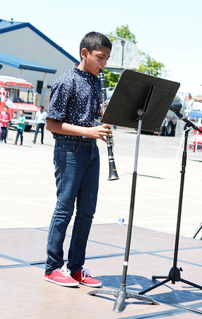 Aditya Khare on the clarinet performing the Indian National Anthem