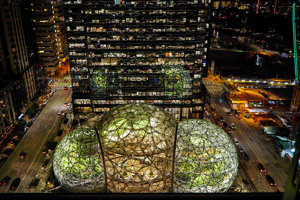 Amazon Spheres in Seattle, WA