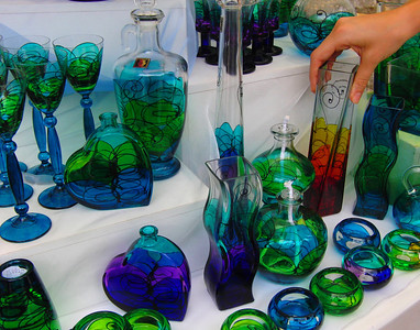 At the edge of the town center in Dubrovnik was this table of handblown glassware. Really beautiful and perfect for a photo.