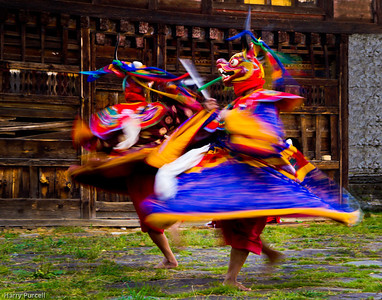 From our trip to Bhutan. These festival dancers were the perfect place for a photographer to practice catching motion.