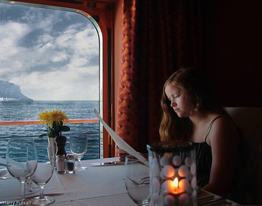 On our cruise with Granddaughter Noelle we had lots of beautiful dinners aboard the cruise ship.