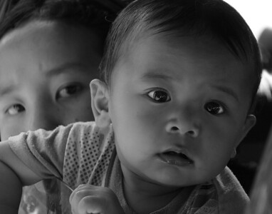This photo started out in color but Judi decided to enter the contest with this in black& white. Another Bhutan photo.