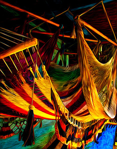 hammocks from Honduras, with Pixel Bender applied for artistic effect