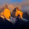 The Torre del Paine mountains at sunrise, Patagonia