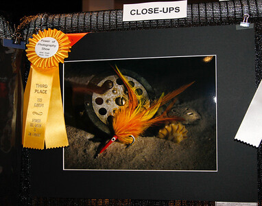 "Harry's 3rd place for ""Denny's Lure"" in Close ups."