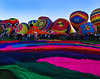 The balloon festival in Albuquerque.