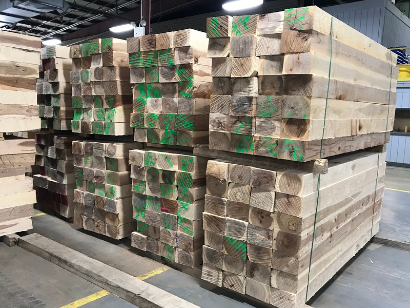Hickory Tie Logs (square logs)