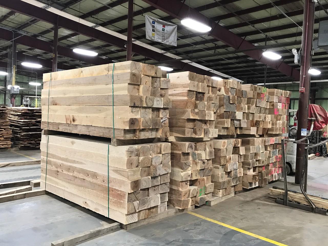 Hickory Tie Logs (square logs