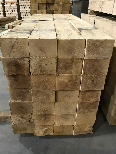 White Oak Tie Logs (square logs)