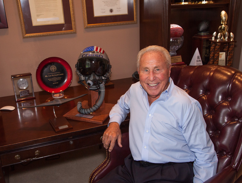 """Lee Corso, ESPN College Sports Commentator.  Cover photo and 6 photos for feature story """"50+FYI"""" magazine, Fall-Winter, 2016-17."""