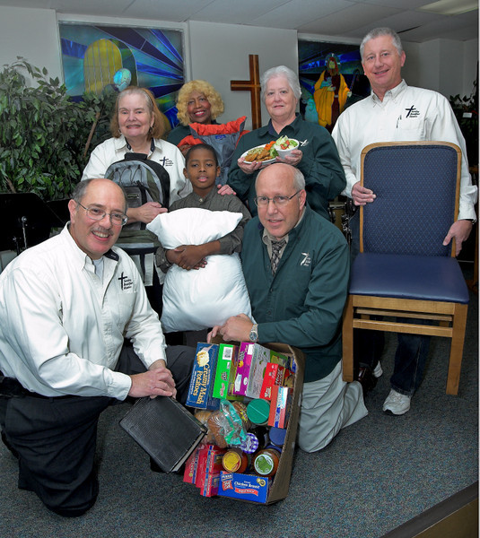 Cover shot for News Journal United Way supplement. Staff and members of the Sunday Breakfast Mission, Wilmington, DE.