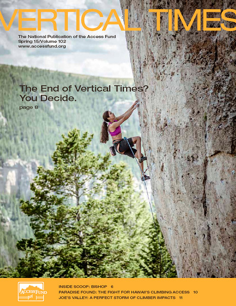 Cover for Vertical Times, Spring 15, March 2015