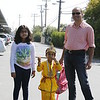 Ansh Kaleshwari (Boy) is dressed up as Lord Krishna on the way to the Ganesh Utsav (L-R): Keya, Ansh and Dad Kaushal Kaleshwari.
