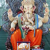 Large Lord Ganesha Idol was kept for people for viewing the Idol and offer donations to charities.