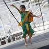 Sanvi dancing to a popular Indian Folk Song during Saturday noon stage dance programs.