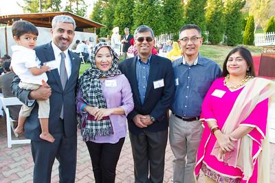 (L->R): Muhammed Chaudhry, CEO of Silicon Valley Education Foundation; Daisy Chu, Aftab Jamil, San Jose City Council Member Kansen Chu & Rini Johar.