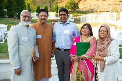 (L-R):  Imam Mubashar of Ahmadiyya Muslim Mosque; Sajjid Sohail; Roh Khanna; Rini Johar & Sabuhi Siddique - Chair of Human Relations Commission of Santa Clara County.
