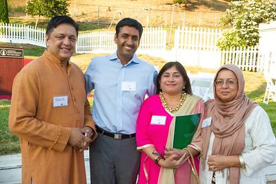 (L->R): Sajjid Sohail; Roh Khanna; Rini Johar & Sabuhi Siddique - Chair of Human Relations Commission of Santa Clara County.