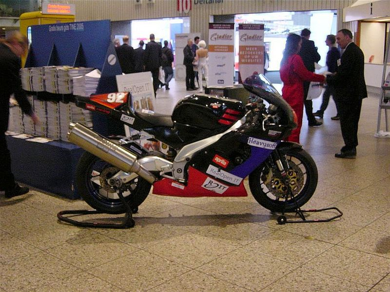 """Paul, my boss, his Aprilla racing bike. This is a real bike and he is <a href=""""http://www.haullussy.com/"""">a real racer</a>"""