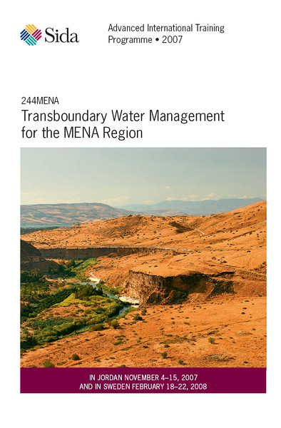 "A picture from the Jordan/syria border (Golan Heights and Tiberiade lake) purchased by the ""Stockholm International Water Institute"" to illustrate one of its publications."