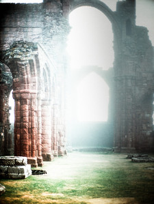 2. Lindisfarne, Insula Sacra, Northumberland UK. The later medieval priory, after an eighteenth-century aesthetic.