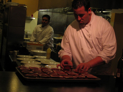Chef Thomas Ricci preparing something...