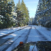 Icehouse Road is plowed, but not free of snow - icy patches