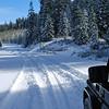 "6000 ft elevation - 6"" snow - single track"
