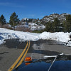 the plowed section of Icehouse Road stops at the first dam at Loon Lake