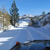 """6500 ft elevation - 7"""" snow - single track - 2nd dam at Loon Lake - 1/4 mile away from trailhead"""