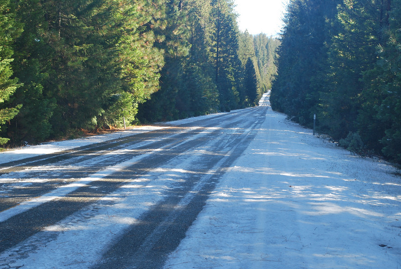 4000 ft elevation - ice on the road