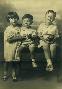Lorraine, Buck, and Angelo. 1934. Taken in San Francisco at Baumans Photography