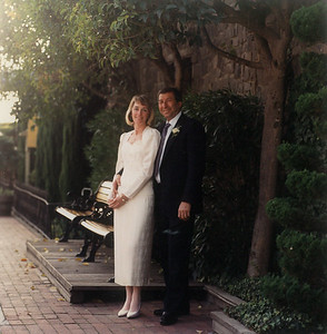 Sue and Buck's Wedding photo at the Depot Hotel in December 2nd, 1989.