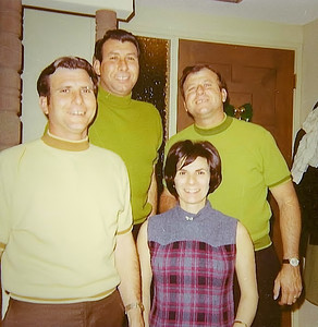 Bob, Buck, Angelo, and Lorraine in 2nd Street East Condo in 1969.