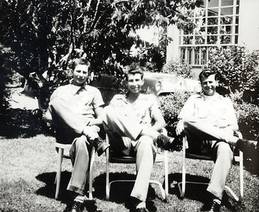 Bob, Buck, and Angelo. Early 1950s