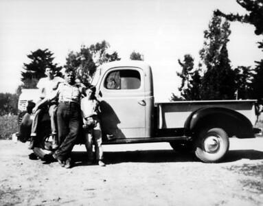 Buck, Vittorio, and Bob. 1947 Dodge.