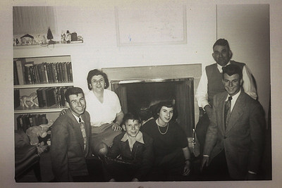 Buck, Maria, Bob, Lorraine, Vittorio, and Angelo. Lorraine's graduation from St. Mary's College in 1951. Aunt Rena and Uncle John's house in 120 San Pablo, San Francisco.