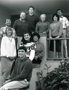 Steve, Mia, Diane, Sue, Buck, Angelo, Mike, Maria, Lorraine, and Bob in the early 1990s.