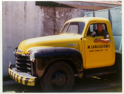 Mauricio (Vittorio's brother) Sangiacomo in Argentina. 1972.