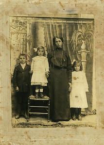 """""""Mangini"""", Rena Mangini, Rosa DeMartini, Maria Julia Mangini. est. 1916. Picture of the passport from Italy."""