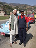 Photo by Franziska: Kanak Mani Dixit with Mr. Lok Bahadur Lama who rescued Kanak fby carrying him on his back and hoisting himself up the near vertical slope with unbelievable strength and guts…